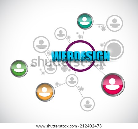 webdesign network concept illustration design over a white background - stock photo