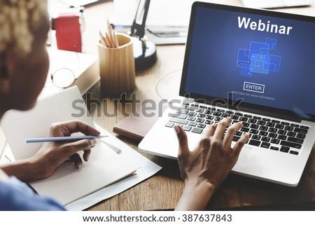 Webinar Online Internet Website Web Page Concept - stock photo