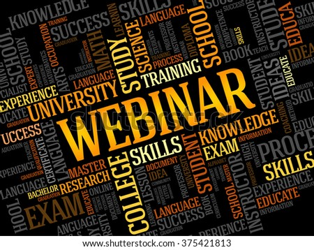WEBINAR word cloud, education business concept - stock photo