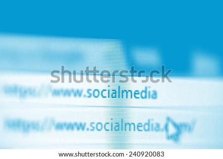 website address social media - stock photo