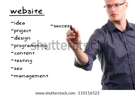 website development project - stock photo