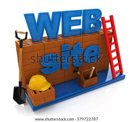Website development. Website building, under construction or repair in the design of the information related to the Internet - stock photo