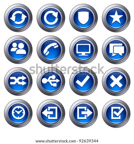 Website icons Set 2 - icons upload, download buttons, phone, restore, backup and save computer files and digital media - Raster Version - stock photo