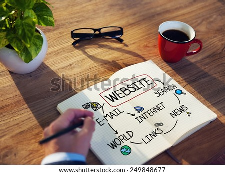 Website Internet News Email Search Communication Concept - stock photo