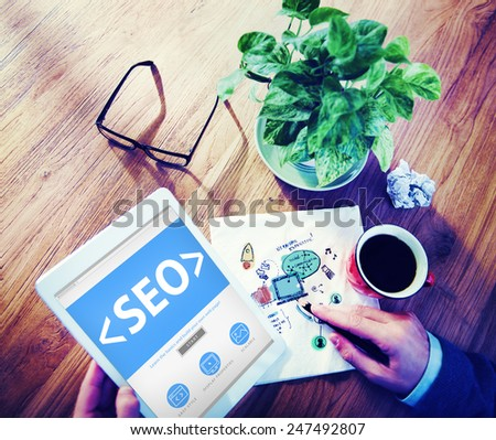 Website Internet Technology Online Connection Concepts - stock photo