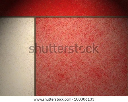 website template with side bar and header box for title, blank white and red background, with texture - stock photo