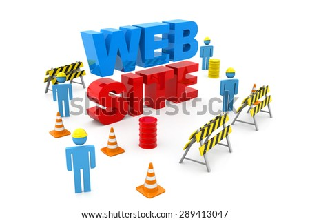 Website under construction - stock photo