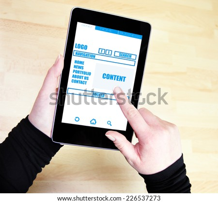 website wireframe  - stock photo