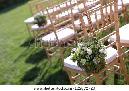 Wedding Aisle Decor - stock photo