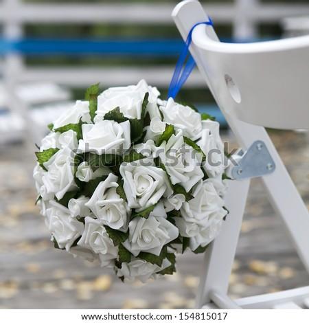Wedding Aisle Decor - stock photo