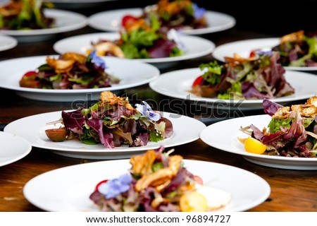 Wedding and event food preparation - stock photo
