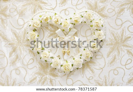 Wedding books with lace background - stock photo
