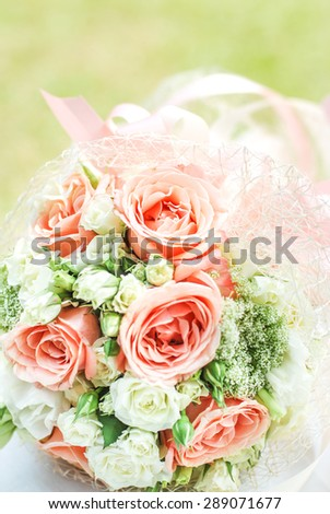 wedding bouquet, flowers, roses, beautiful bouquet  - stock photo