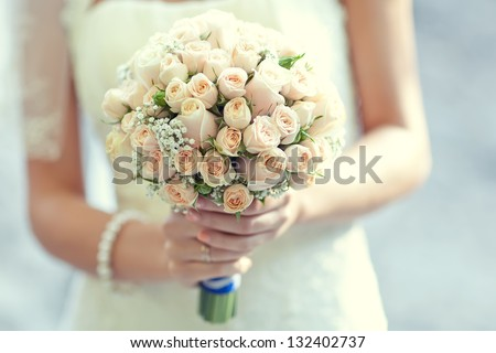 Wedding bouquet of flowers - stock photo