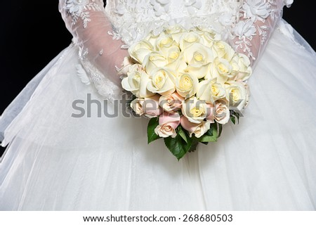 Wedding bouquet of flowers - stock photo