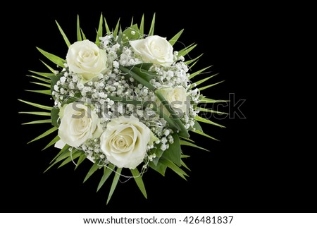 Wedding Bouquet on a black background - stock photo