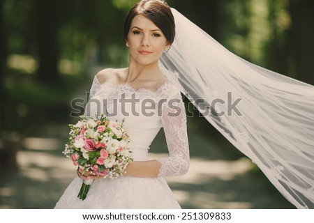 Wedding bride. - stock photo