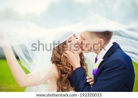 Wedding. Bride and groom.  - stock photo