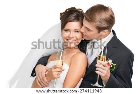 Wedding, Bride, Couple. - stock photo