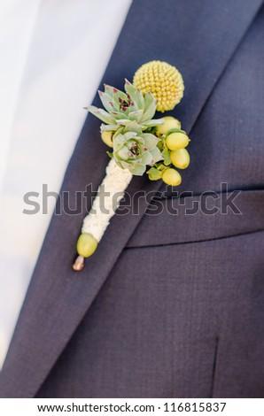 Wedding Button Hole flower - stock photo