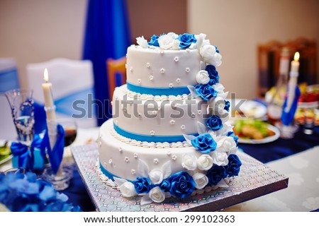 Wedding cake. Sweet cake. - stock photo