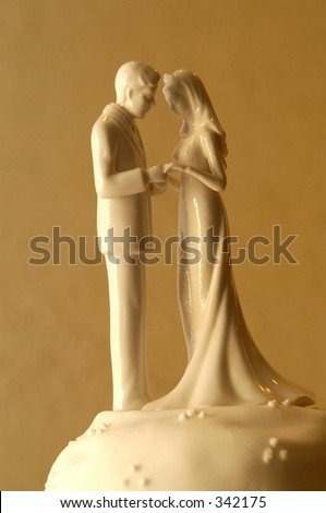 Wedding cake topper - stock photo