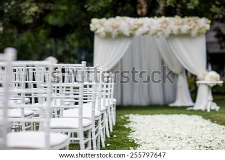 wedding ceremony - stock photo