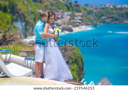 Wedding Ceremony at the Tropical Coast Line.Asia. - stock photo