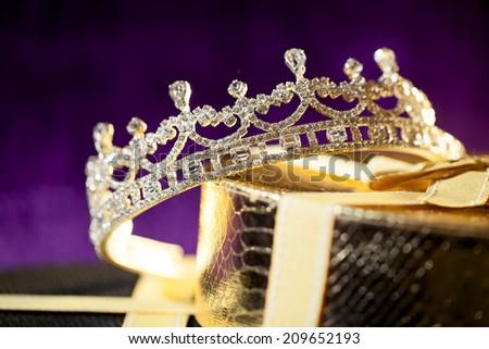 Wedding crown - Diamond tiara - stock photo