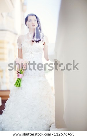 Wedding day. Beautiful young bride - stock photo