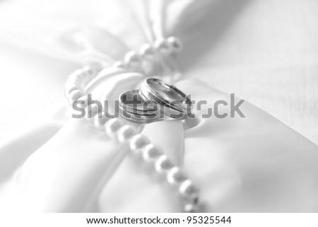 Wedding day, black & white - stock photo