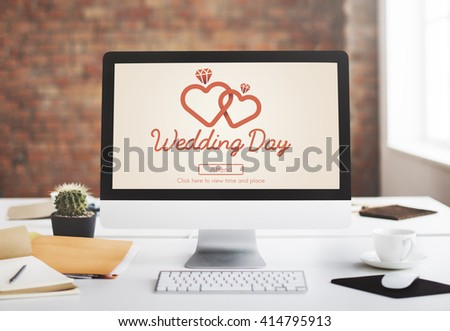 Wedding Day Celebration Ceremony Love Concept - stock photo