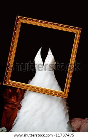 wedding dress - stock photo