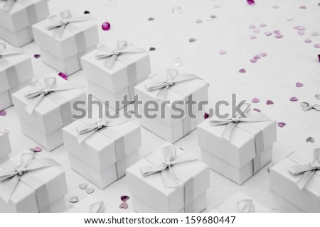 wedding Favor boxes - stock photo