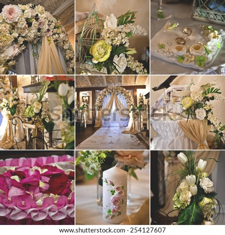 wedding floral decoration - stock photo