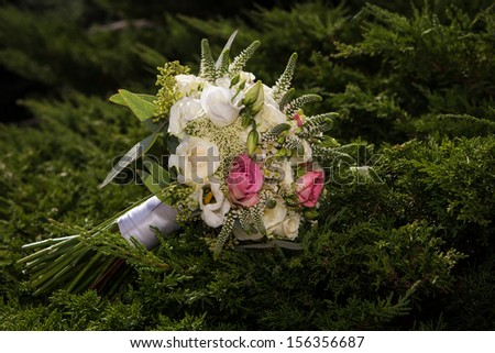 Wedding flowers of roses - stock photo