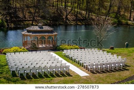 Wedding Gazebo - stock photo