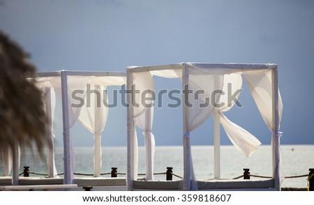 Wedding Gazebo on the Beach - stock photo