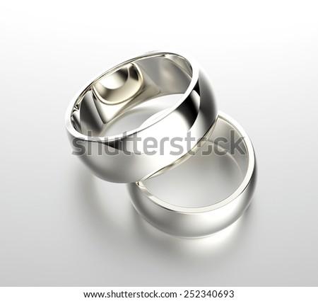 Wedding gold ring. Jewelry background - stock photo