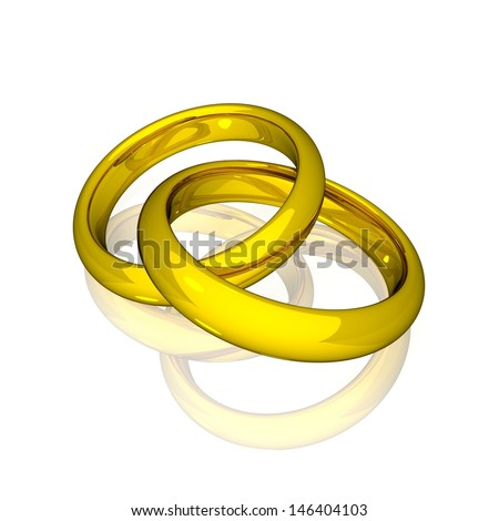 Wedding - Gold Rings - stock photo