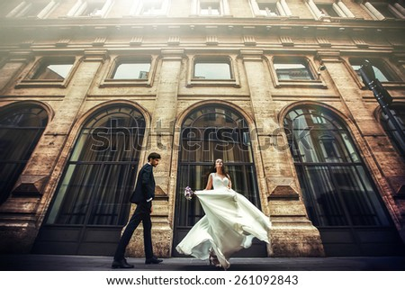 wedding in Rome - stock photo