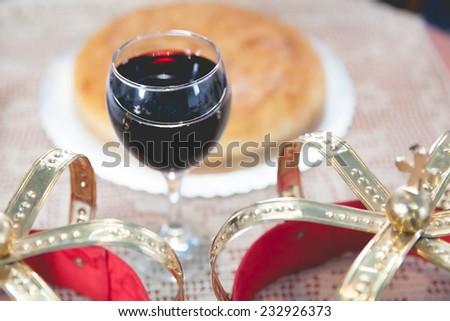 Wedding in the Orthodox Church - stock photo
