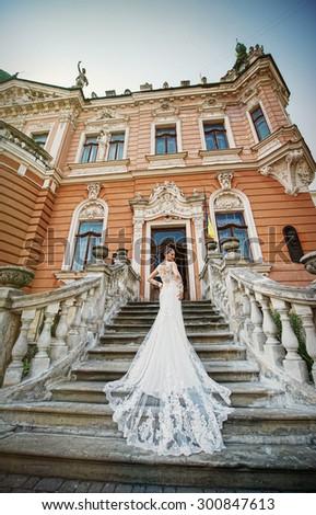 Wedding, love, beautiful wedding, happy, kiss - stock photo