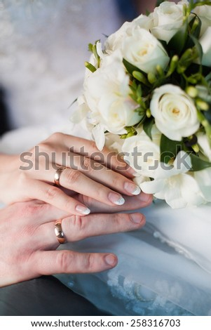 wedding love story - stock photo
