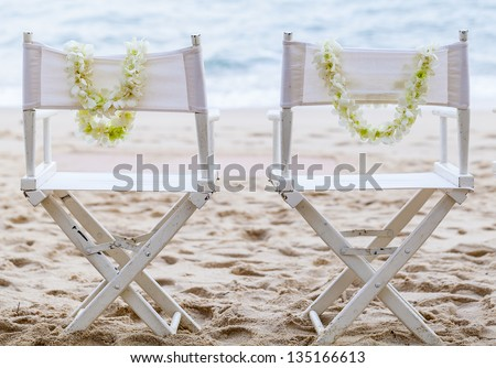 Wedding on the beach . - stock photo