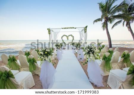 Wedding on the beach - stock photo