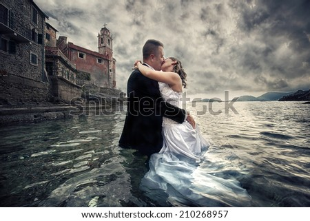 Wedding on the sea - stock photo