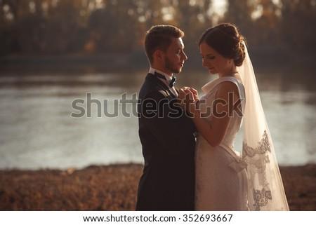 wedding photography is very beautiful couple - stock photo