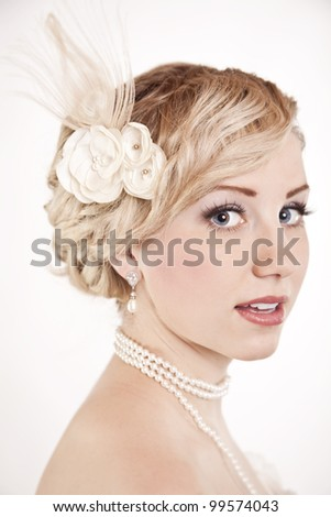 Wedding Ready Beautiful Bride - stock photo