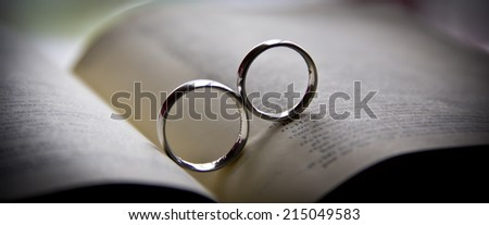 Wedding ring - stock photo